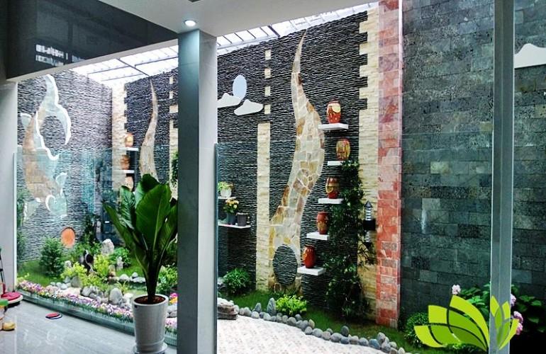 thiết kế tranh đá dán tường