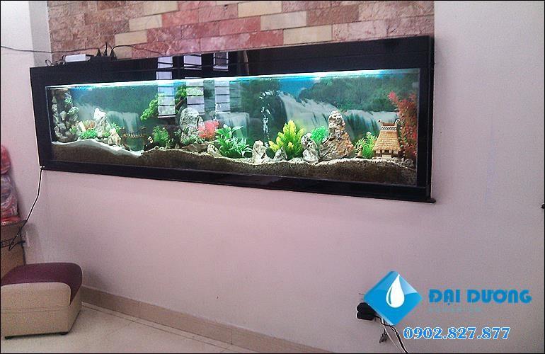 hồ cá âm tường giả thủy sinh