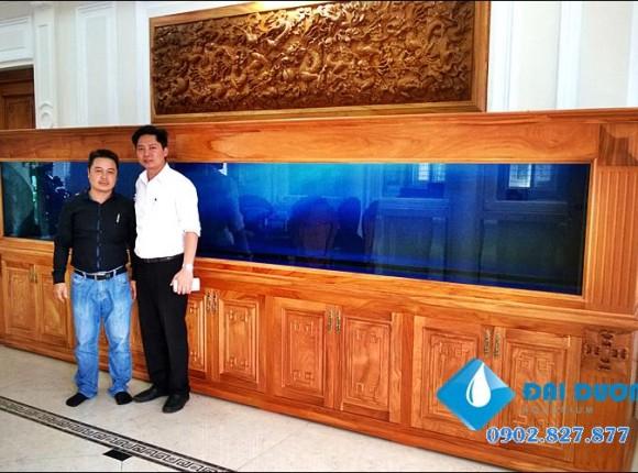 Hồ cá rồng dài 5m Anh Hưng Tân Uyên