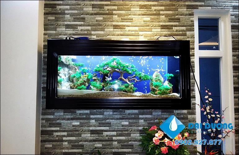 hồ cá treo tường đẹp
