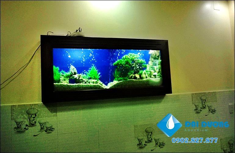 trang trí hồ cá treo tường hcm
