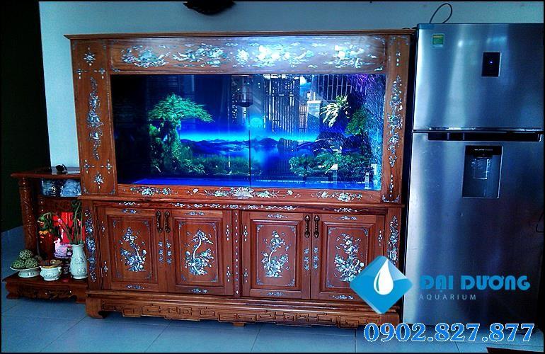 bộ tủ hồ cá rồng độc đáo