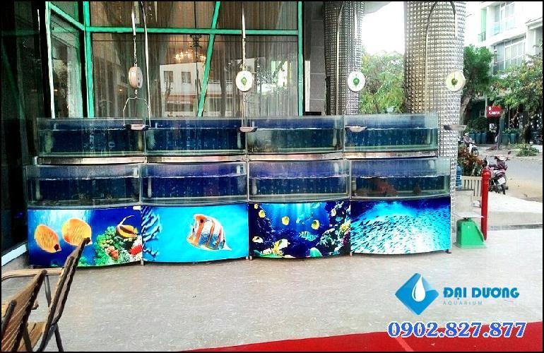 hồ chứa hải sản nhà hàng