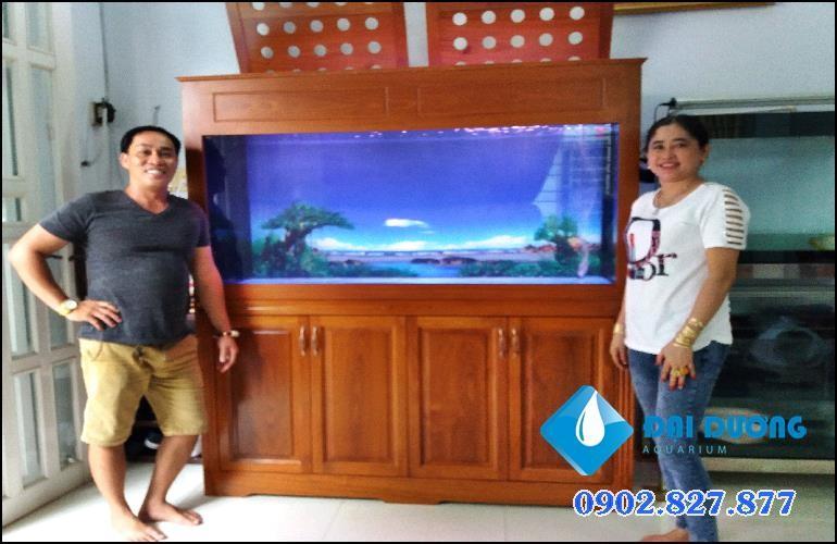 hồ cá rồng 4 đáy vách mõng