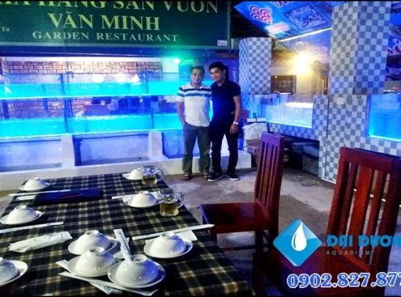 Hệ thống dàn hồ cá hải sản tại Hà Tĩnh