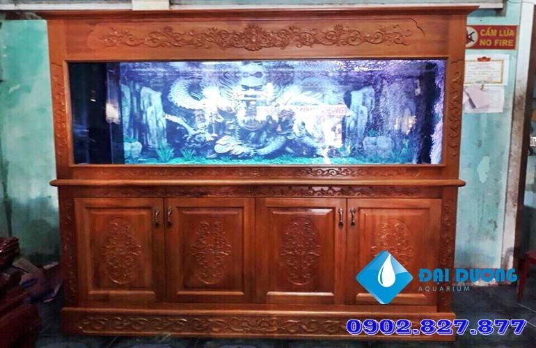 hồ cá rồng chạm khắc