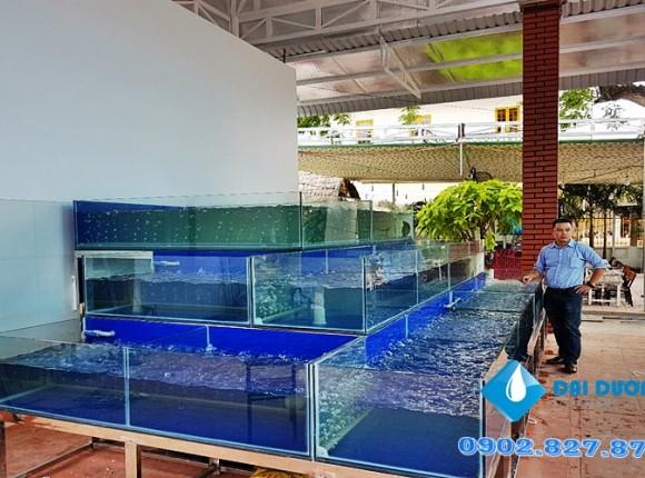 Dàn chứa hải sản quán Phố Nướng TP Châu Đốc