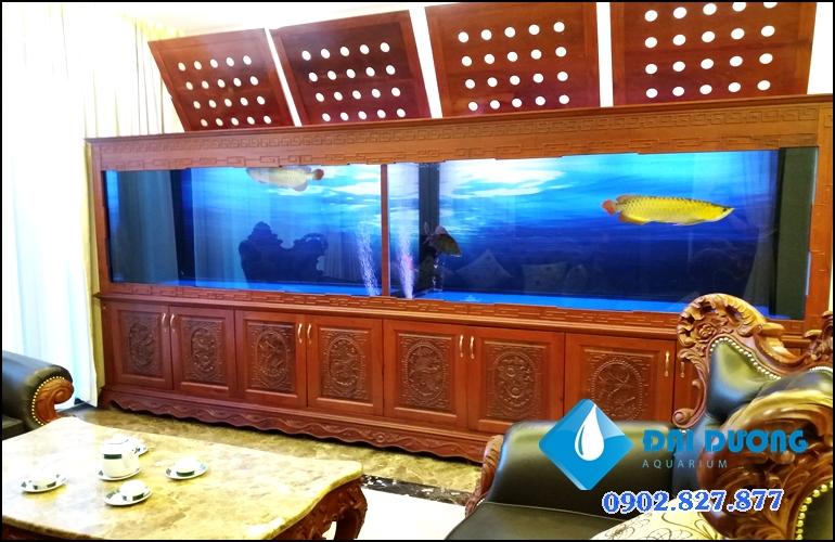 hồ chứa cá rồng khủng