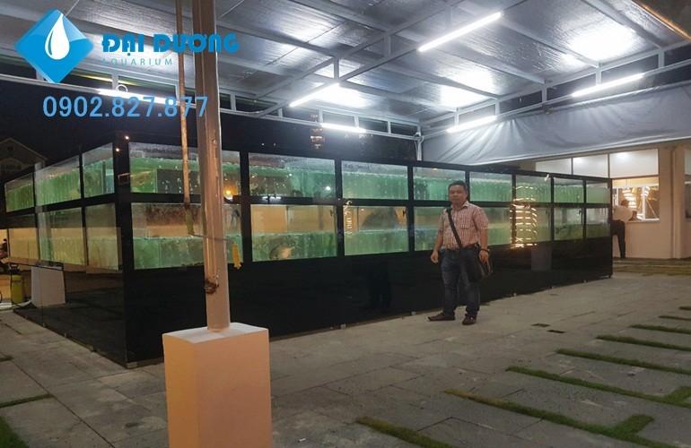 hồ chứa hải sản nhà hàng hương biển
