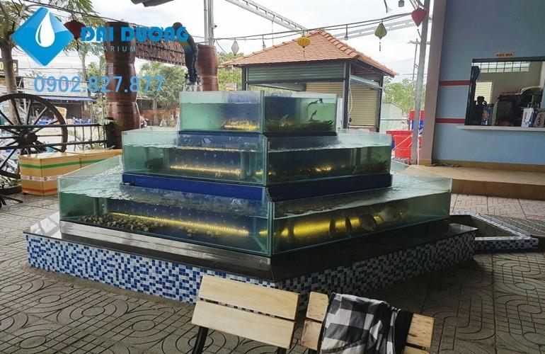 lắp đặt hồ hải sản 3 tầng lục giác