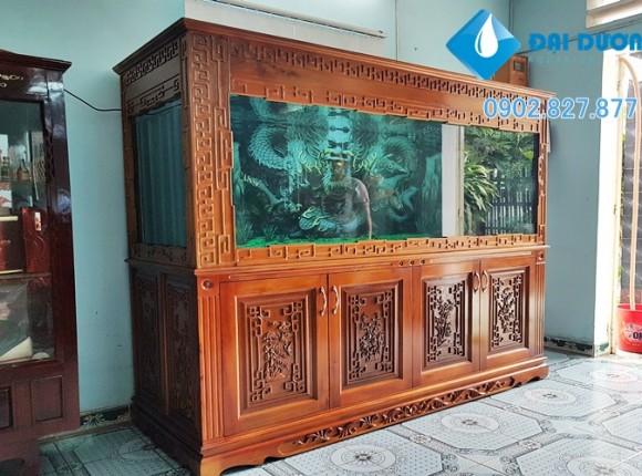 Hồ cá rồng chạm tứ quí tại Bình Phước