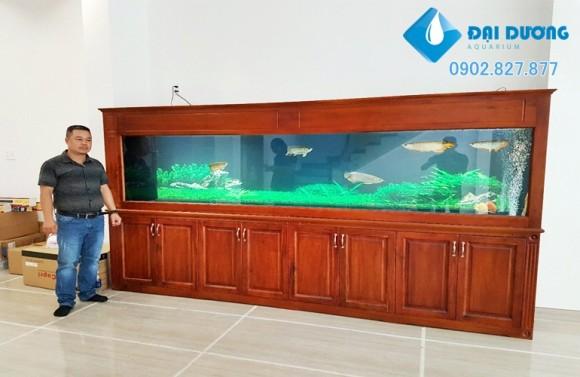 hệ thống lọc cho hồ cá rồng khủng