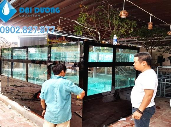 Bể hải sản cho quán hải sản Hồng Phát Đồng Nai