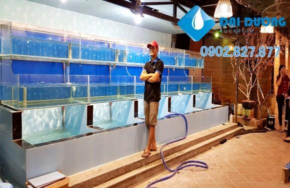 hồ nuôi hải sản nhà hàng