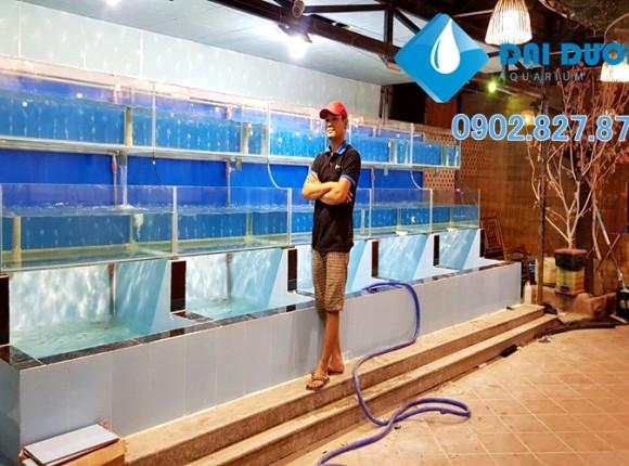 Hồ nuôi hải sản tại nhà hàng Thảo Mộc Ninh Thuận