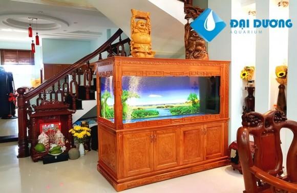 Thi công bể cá rồng đẹp tại nhà anh dũng tân bình 4